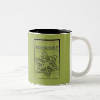 Bar Mitzvah Star of David Two-Tone Mug