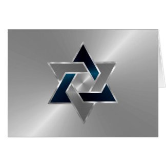 Bar Mitzvah Star of David on Any Color Card