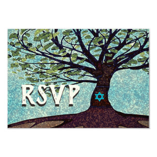 Bar Mitzvah Tree of Life RSVP Card