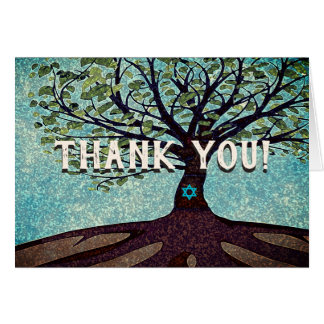 Bar Mitzvah Tree of Lifel Thank You Card