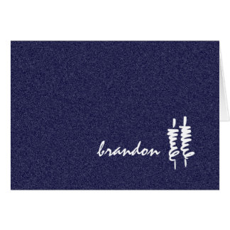 Bar Mitzvah White Torah Scrolls on Any Color Note Card