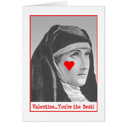 Bar Nun Valentine Card