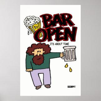 Bar open print