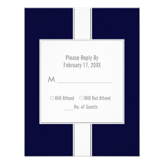 Bar or Bat Mitzvah Reply Cards Dark Blue
