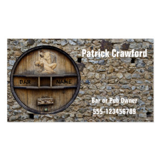 Bar Or Pub Owner or Client Business Card