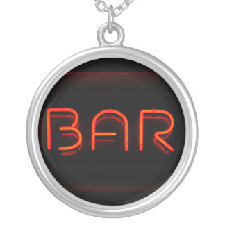 BAR Red Neon Sign Jewelry