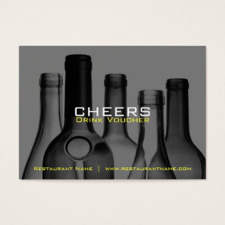 Bar & Restaurant Drink Vouchers and Coupons Business Card