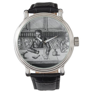 Bar Scene Hand Drawn Men's Watch