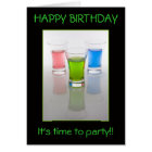 Bar Shots, Happy Birthday! Card
