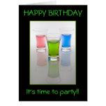 Bar Shots, Happy Birthday! Greeting Card