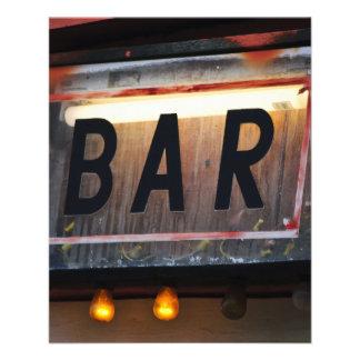 Bar Sign Custom Flyer