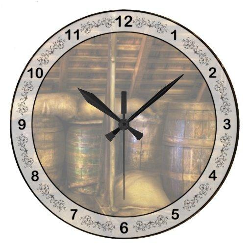 Bar - Wine Barrels Clock