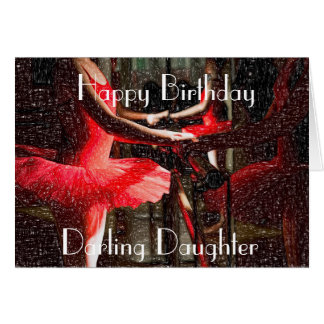 BAR WORK DAUGHTER GREETING CARD