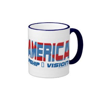 Barack America Leadership Gear Ringer Coffee Mug