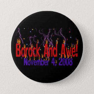 Barack and Awe 7.5 Cm Round Badge