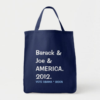 Barack and Joe and AMERICA 2012 Tote Bag