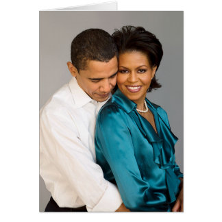 Barack and Michelle Card