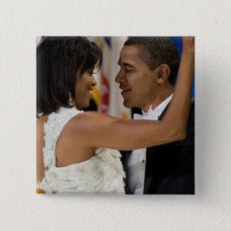 Barack and Michelle Obama 15 Cm Square Badge