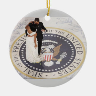 Barack and Michelle Obama Christmas Ornament