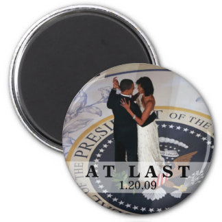 Barack and Michelle Obama Dancing at Inaugural Bal 6 Cm Round Magnet