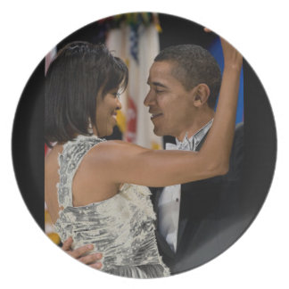 Barack and Michelle Obama Plate