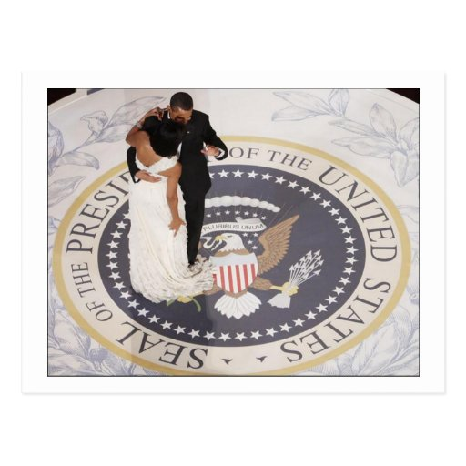 Barack and Michelle Obama Post Card