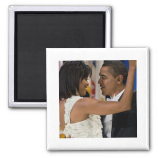 Barack and Michelle Obama Square Magnet
