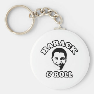 Barack and Roll Basic Round Button Key Ring