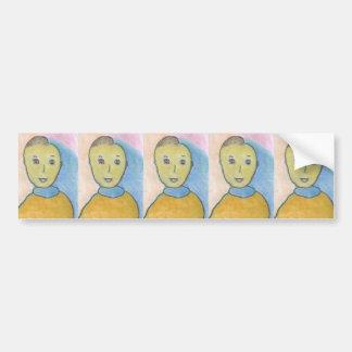 Barack, Chalk Drawing, Art Bumper Sticker