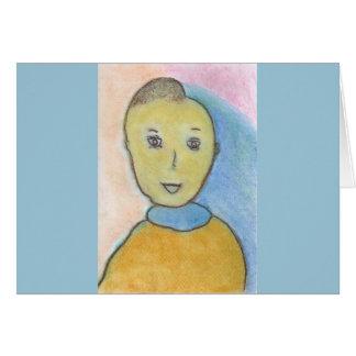 Barack, Chalk Drawing, Art Greeting Card