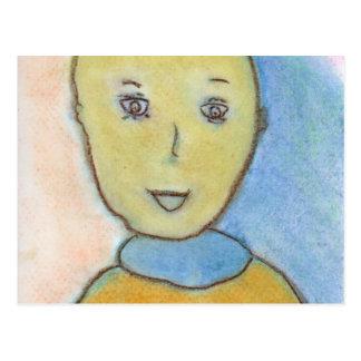 Barack, Chalk Drawing, Art Postcard