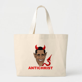 Barack Hussein Obama: AntiChrist Tote Bags