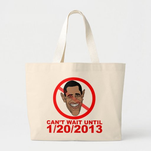 Barack Hussein Obama Countdown Canvas Bags