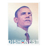 Barack Hussein Obama Dishonest Pinocchio Postcard