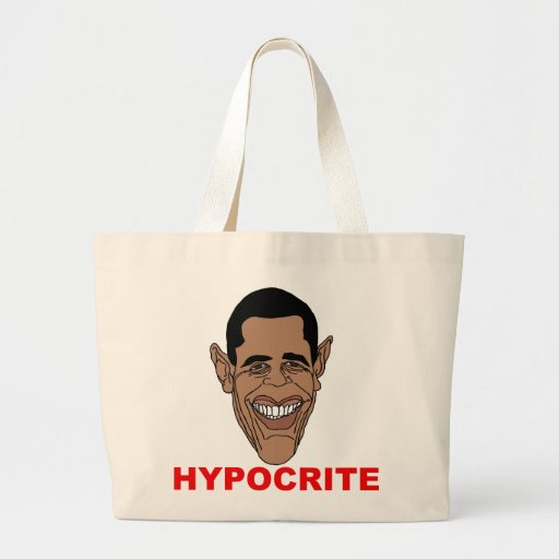 Barack Hussein Obama=Hypocrite Canvas Bags