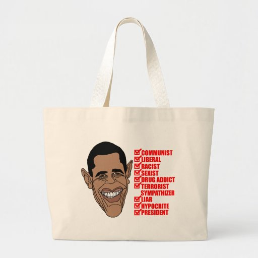 Barack Hussein Obama's List of Qualifications Canvas Bags