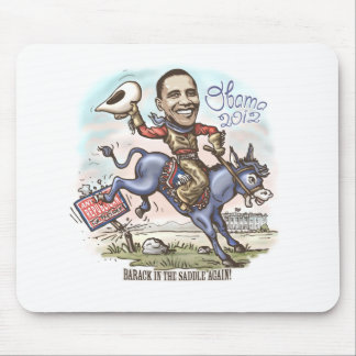 Barack in the Saddle 2012 Mouse Pad