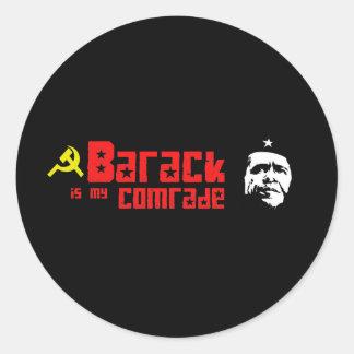 Barack is my Comrade Round Sticker