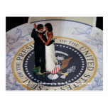 Barack & Michelle Obama dancing at Inaugural Ball Postcard