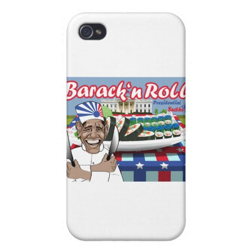 Barack n' Roll from Presidential Sushi Case For iPhone 4