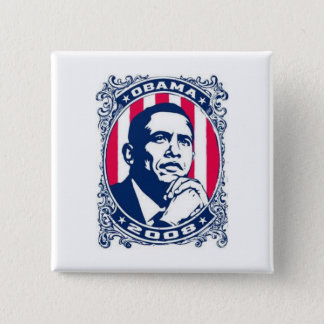 Barack Obama 15 Cm Square Badge