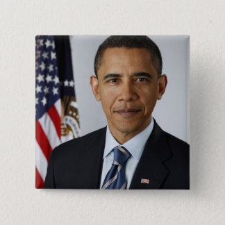 Barack Obama 15 Cm Square Badge