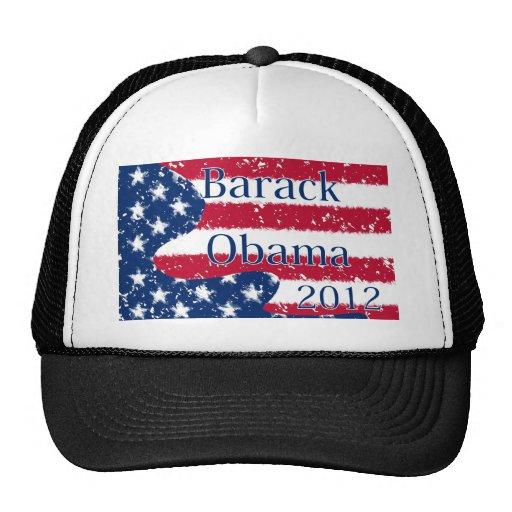 Barack Obama 2012 Altered US Flag Hat