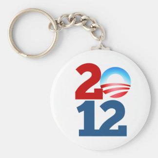 Barack Obama 2012 Basic Round Button Key Ring