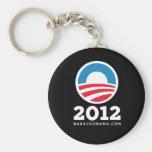 "Barack Obama 2012 ""O"" Logo (Black) Keychains"