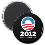 "Barack Obama 2012 ""O"" Logo (Black) Refrigerator Magnet"