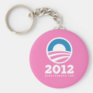 "Barack Obama 2012 ""O"" Logo (Pink) Key Ring"