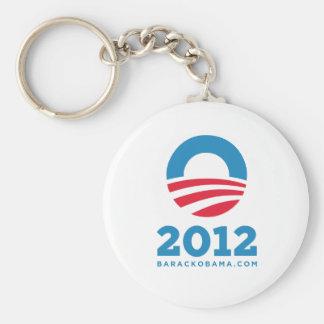 "Barack Obama 2012 ""O"" (White) Basic Round Button Key Ring"