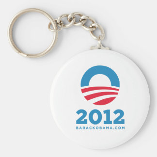 "Barack Obama 2012 ""O"" (White) Key Ring"