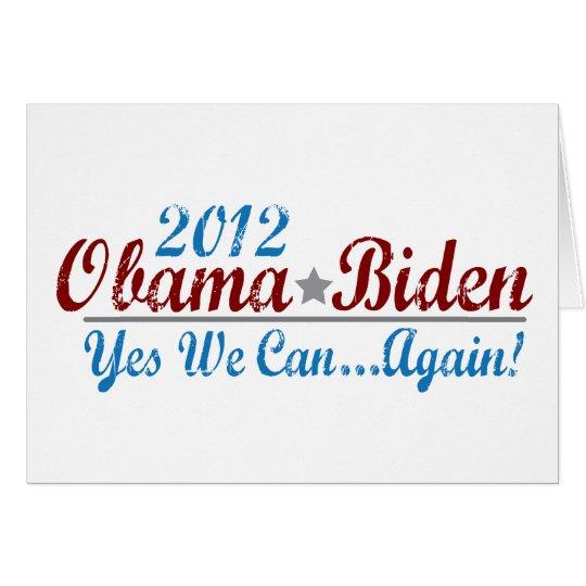 barack obama 2012 re-elect greeting card
